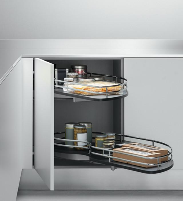 Cestelli Estraibili Per Angolo Cucina.Attrezzatura Interna Prodotti Arclinea